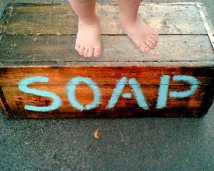 Child on Soapbox Edited