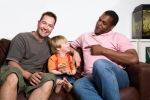 LGBT ISTOCK - LGBT men with baby
