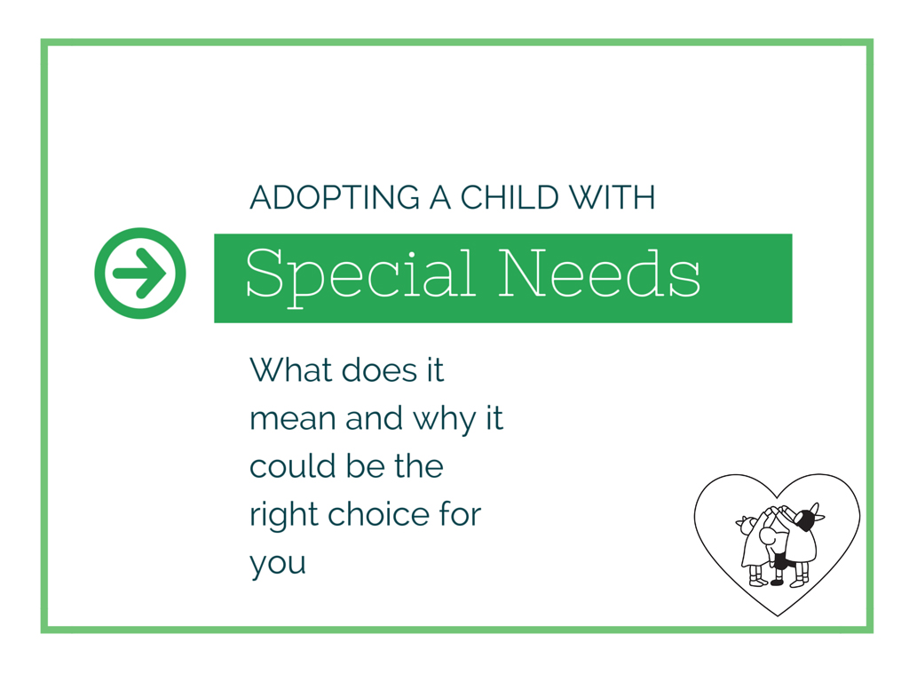 adopting special needs children Adopting a special needs child may shorten the lengthy adoption process for  62 percent of the children placed by that agency have special needs,.