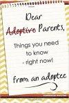 dear adoptive parents