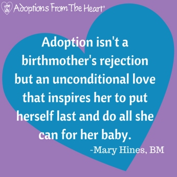 Adoption isn't a birthmother's rejection