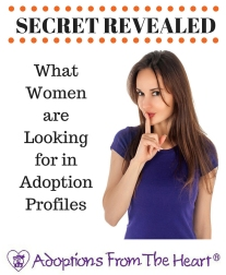 What women are looking for in adoption profiles